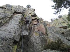 Rock Climbing Photo: 5.7 crack