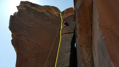 "Rock Climbing Photo: ""Warpath"" Palo Duro Canyon"