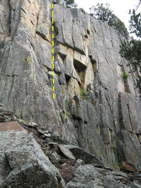 Rock Climbing Photo: Munge offwidth