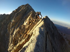 Rock Climbing Photo: The final ridge to the summit
