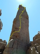 Rock Climbing Photo: Manakin Dance Topo