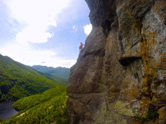 Rock Climbing Photo: Last pitch of Overture! Doesn't let up for a secon...