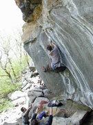 "Rock Climbing Photo: Tim Kemple ""bouldering"" Bottom Feeder."