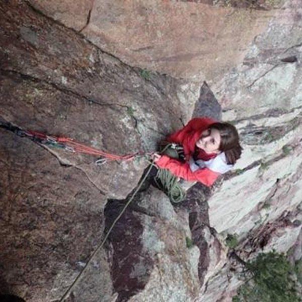 Rock Climbing Photo: Me climbing in Eldorado Canyon