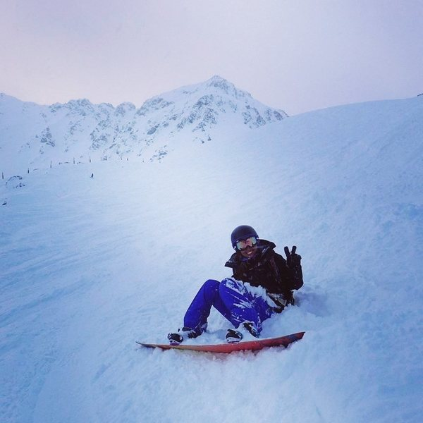 Rock Climbing Photo: Me snowboarding in A-Basin
