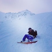 Me snowboarding in A-Basin