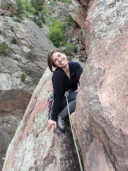 Me climbing in Eldorado Canyon