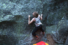 Rock Climbing Photo: bouldering at the lake spaulding campsite near the...