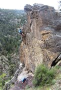 Rock Climbing Photo: Climbing Nautical-Themed Pashmina Afghan, along th...