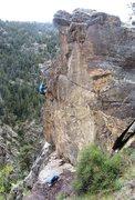 Rock Climbing Photo: Fun jug-hauling along the knife-edge.