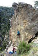 Rock Climbing Photo: After a quick clip at the second bolt, a few 5.12 ...