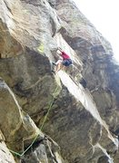 Rock Climbing Photo: Sustained, delicate headwall climbing just above t...