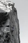 Rock Climbing Photo: B&W.