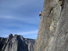 Rock Climbing Photo: Hiroshi leading p3, East Buttress of El Cap