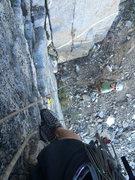 Rock Climbing Photo: Starting up.