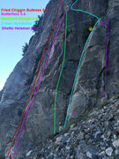 Rock Climbing Photo: Topo 2, showing right side routes.