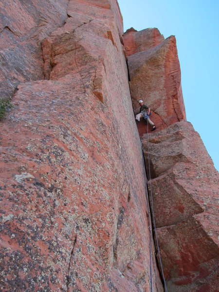 Rock Climbing Photo: Karl on Pitch 5 on FA.