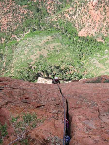 Looking down on pitch 7 glory hands.