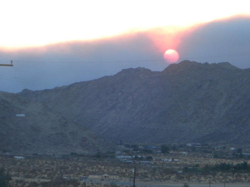 Rock Climbing Photo: fire sunset