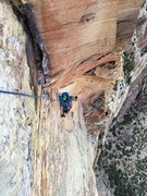 Rock Climbing Photo: Josie McKee following P13