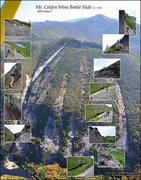 Rock Climbing Photo: Beta photo of key areas of the slide and route. Cl...