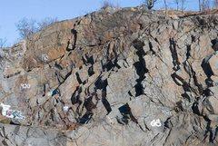Rock Climbing Photo: E Wall overview.