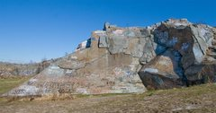 Rock Climbing Photo: R Wall overview.