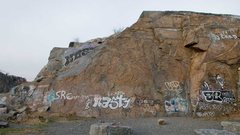 Rock Climbing Photo: S Wall overview.