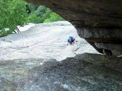Rock Climbing Photo: Pitch 3 approaching chimney