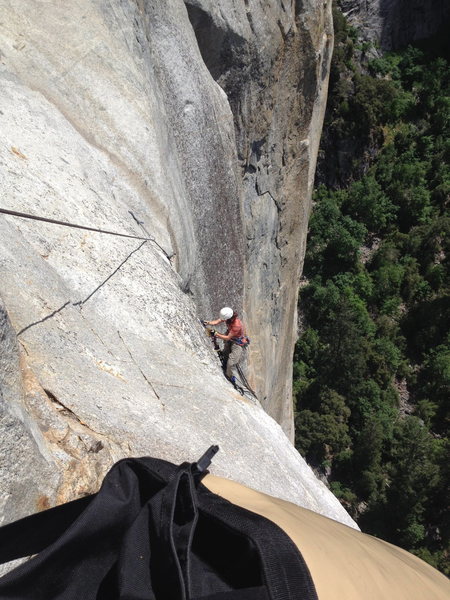 Jugging up the last bit to Ahwahnee