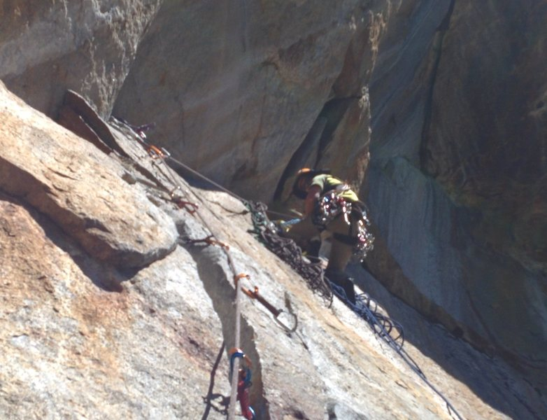 Rock Climbing Photo: End of p8 on ST (or 7 on the YBWG) before the roof...