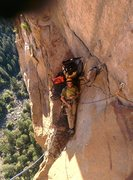 Rock Climbing Photo: Nice belay on the last real aid pitch before Dano ...