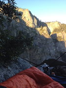 Rock Climbing Photo: Waking up on Dano