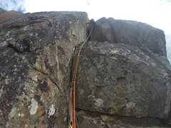 Rock Climbing Photo: Patrick finally got out of the chimney. We left th...