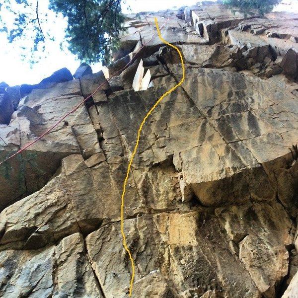 Rock Climbing Photo: Tartarus topo picture.