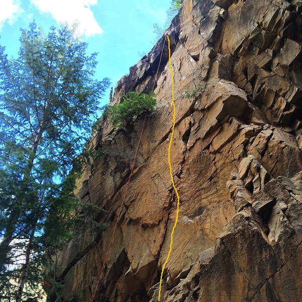 Rock Climbing Photo: Fasting on Ramadan is yellow line.