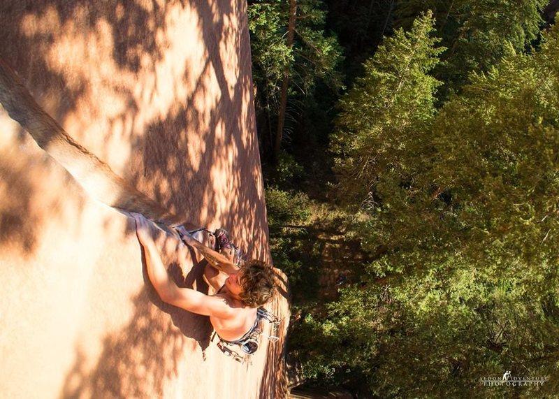 Rock Climbing Photo: The upper crux