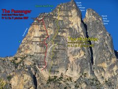 Rock Climbing Photo: SEWS Hitchhiker and Passenger route overlays.