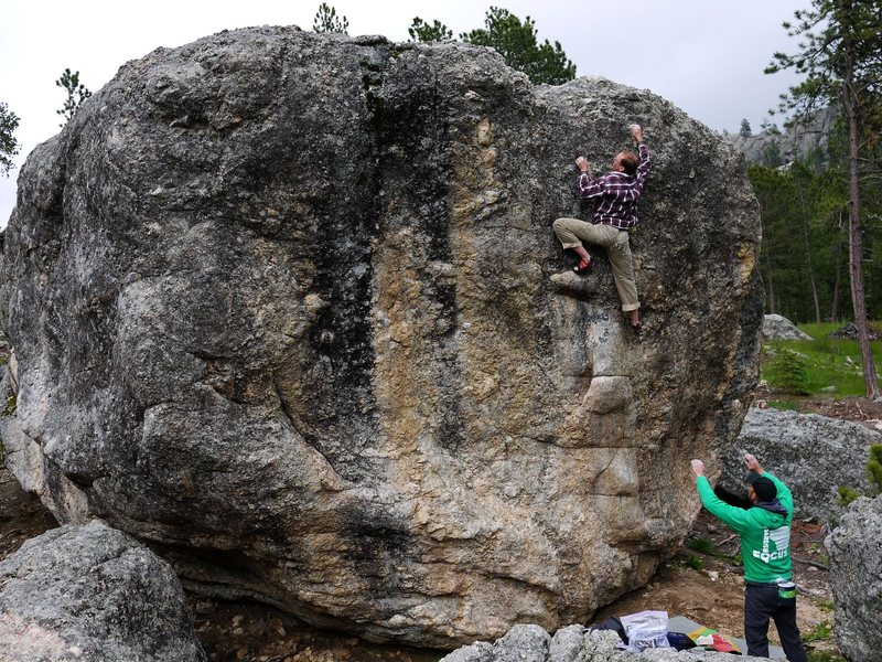 Rock Climbing Photo: Great problem.  Satermo on the spot, photo Baker.