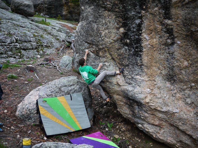 Rock Climbing Photo: Baker further over