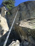 Rock Climbing Photo: Kevin Scharfe working the first crux