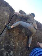 Rock Climbing Photo: my personal butt-shot of the yogi finish