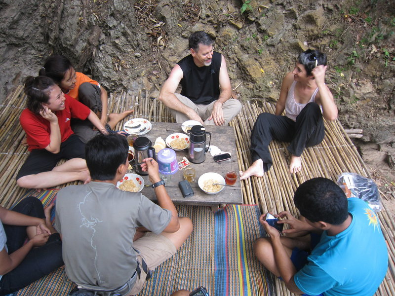 Rock Climbing Photo: Lunch at the lower teashop.