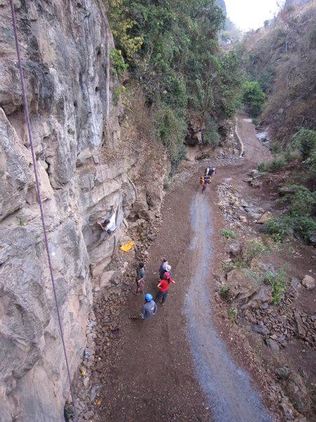 Saya Steve Wall. We called it Teashop Crag when we first found it.