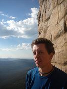 Rock Climbing Photo: A tense moment on 'Where Vultures Dare'.....