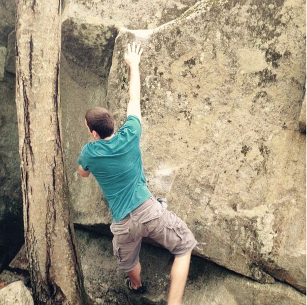 "Rock Climbing Photo: Ricky pulling crux move on ""Dolly Parton&quot..."