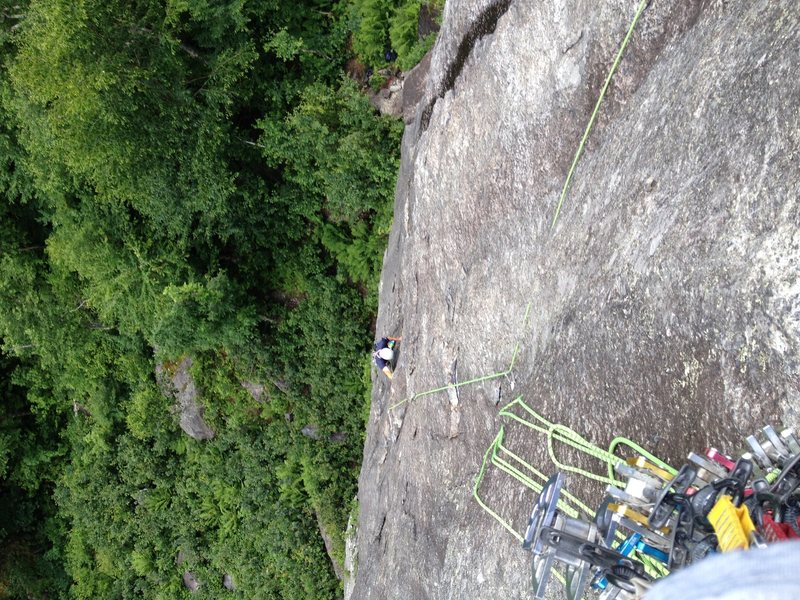 Rock Climbing Photo: Lucas Elliot following the second pitch