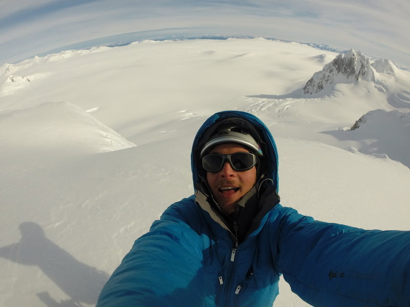 Me on the summit of Cerro Escuela on the Northern Patagonian Ice Cap