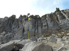 Rock Climbing Photo: Stegosaurus. Note climbers for scale.
