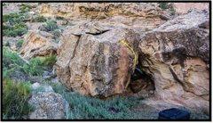 Rock Climbing Photo: Blueshift problem beta.